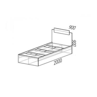 Кровать Эко 1-но спальная 0,9м