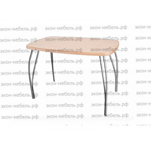 Стол обеденный с фигурным фланцем ЛДСП