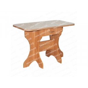 Стол обеденный №3 с ящиком постформинг