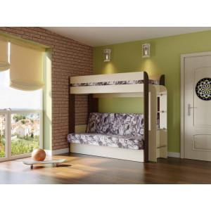 Кровать-чердак с диван-кроватью Немо (без верхнего матраца)