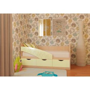 Детская кровать Бабочки МДФ 1,6 м