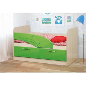 Детская кровать Дельфин МДФ 1,4 м.
