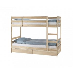 Кровать двухъярусная с ящиками Пирус для покраски