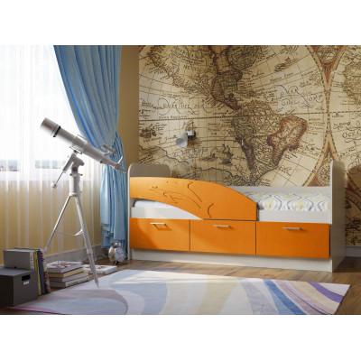 Детская кровать Дельфин МДФ 1,6 м.
