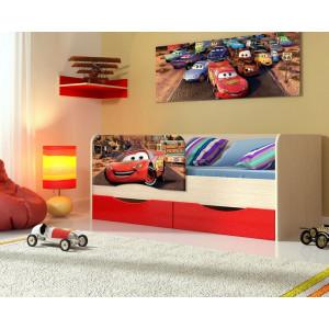 Детская кровать Тачки МДФ 1,6 м.