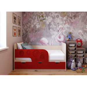 Детская кровать Фиксики МДФ 1,6 м
