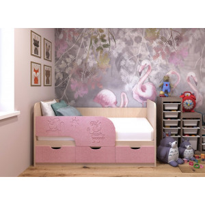 Детская кровать Свинка Пеппа МДФ 1,6 м