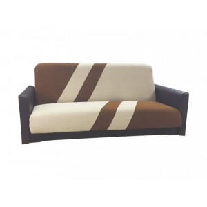 Диван Фиджи-1 подлокотник кожа (коричнево-бежевый)