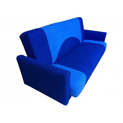 Диван Фиджи подлокотник ткань (сине-голубой)