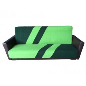 Диван Фиджи-1 подлокотник кожа (зелено-салатовый)