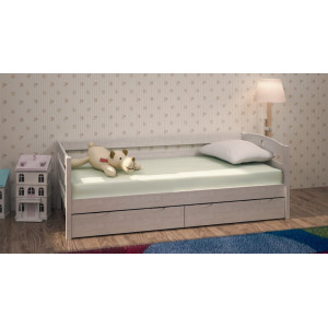 Кровать детская Массив с ящиками