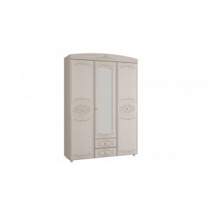 Шкаф 3-х дверный комбинированный с зеркалом Каролина