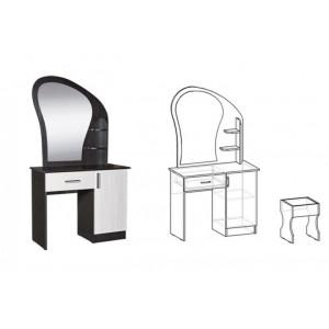 Стол макияжный с банкеткой, зеркалом и ящиком Светлана