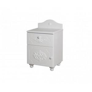 Тумба прикроватная Барокко с дверью и ящиком