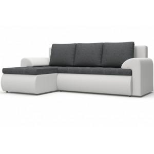 Угловой диван Цезарь серо-белый
