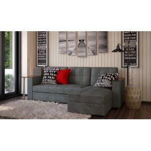 Угловой диван с баром Атлант грей