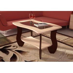Журнальный стол с прямоугольным стеклом №3