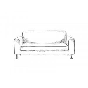 Диван-кровать с подлокотниками Классик замша молочная цветы E1006-2