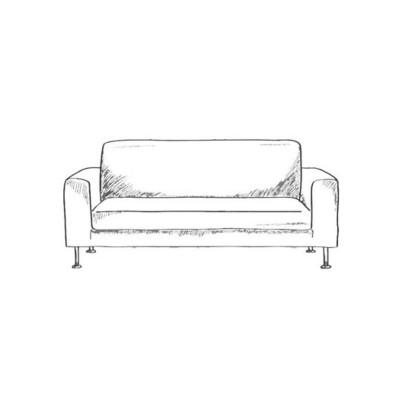 Диван-кровать с подлокотниками Классик микровелюр серый E1004-AN37-7
